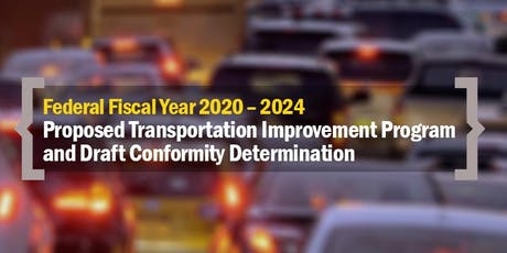 Draft 2020-24 TIP and Conformity - Public Review Meetings & Webinars MHS tickets