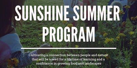 Sunshine Summer Days Program at the Farm (2-5yrs + Caregiver)(6-weeks)WED tickets