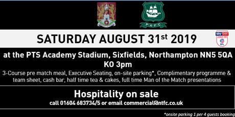 PLYMOUTH ARGYLE MATCH HOSPITALITY AT NORTHAMPTON TOWN FOOTBALL CLUB tickets