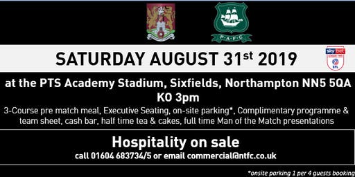 PLYMOUTH ARGYLE MATCH HOSPITALITY AT NORTHAMPTON TOWN FOOTBALL CLUB