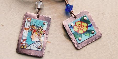Upcycled Tin Pendant Workshop tickets
