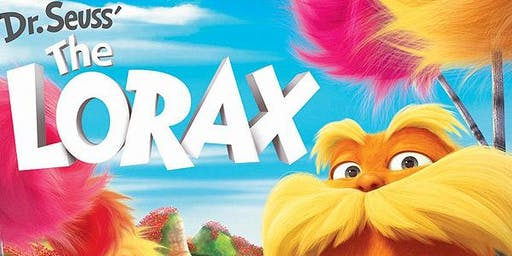 The Lorax Monday 26th August 2019, 2pm