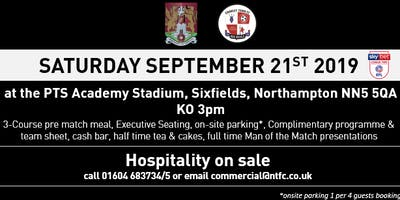 CRAWLEY TOWN MATCH DAY HOSPITALITY AT NORTHAMPTON TOWN FOOTBALL CLUB