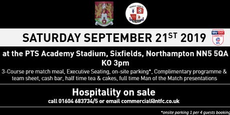 CRAWLEY TOWN MATCH DAY HOSPITALITY AT NORTHAMPTON TOWN FOOTBALL CLUB tickets