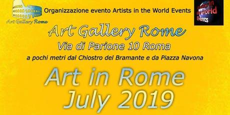 Art in Rome July 2019 biglietti