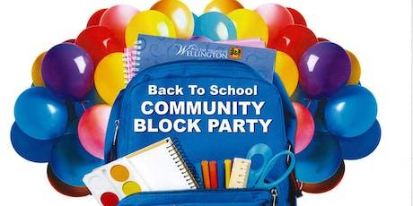 Wellington's Back To School Block Party tickets