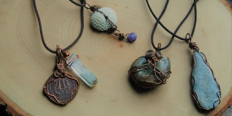 Create Your Own Found Object Wire Wrapped Pendant tickets