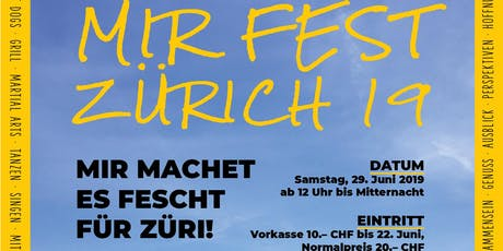 MIR Fest Zürich 2019 - ExperiAeNzG Zurich anew Tickets