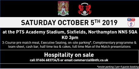 LEYTON ORIENT HOSPITALITY AT NORTHAMPTON TOWN FC tickets