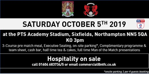 LEYTON ORIENT HOSPITALITY AT NORTHAMPTON TOWN FC
