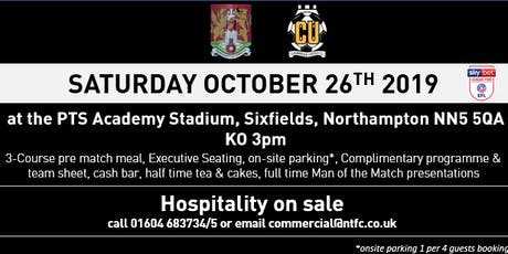 CAMBRIDGE UNITED HOSPITALITY AT NORTHAMPTON TOWN FOOTBALL CLUB tickets