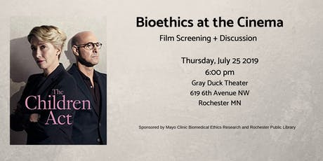 The Children Act - Bioethics at the Cinema tickets