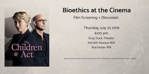 The Children Act - Bioethics at the Cinema