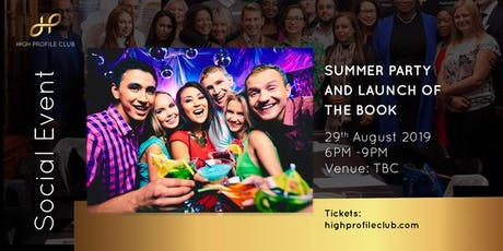Social Event: Summer Party and Launch of the Book tickets