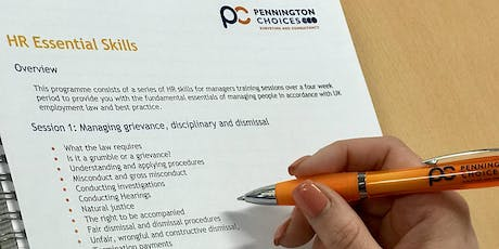 Pennington Choices HR Essential Skills Programme: Session 1 tickets