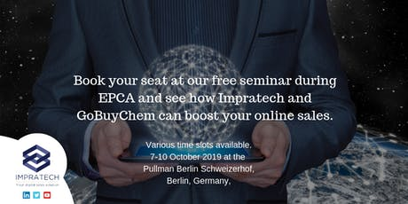 Digitalisation - GoBuyChem and Impratech showcase event at EPCA , Berlin tickets