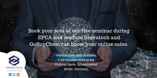 Digitalisation - GoBuyChem and Impratech showcase event at EPCA , Berlin