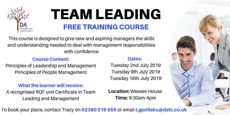 Team Leading FREE training course tickets