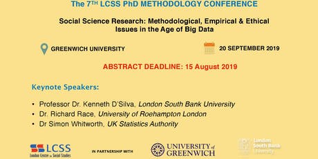 The 7th LCSS PhD Methodology Conference tickets