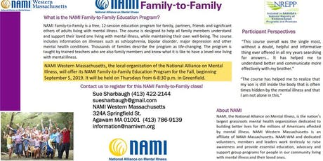 NAMI-Westren Massachusetts Family to Family Education Class tickets