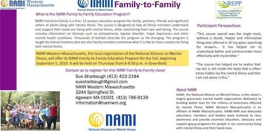 NAMI-Westren Massachusetts Family to Family Education Class