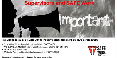 Supervisors and SAFE Work - Winnipeg, MB tickets