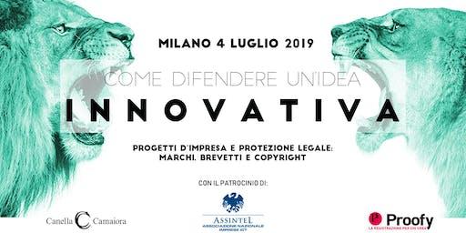 Come difendere un'idea innovativa® Tour 2019/2020 - Milano