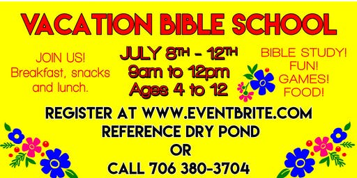 Dry Pond Vacation Bible School