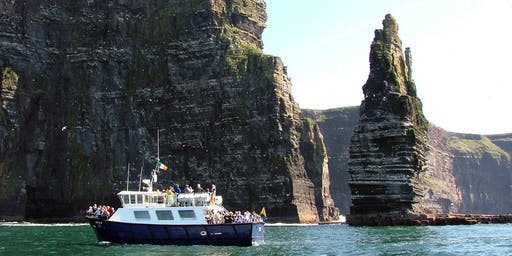 Cliffs of Moher & Boat Cruise Day Tour from Dublin