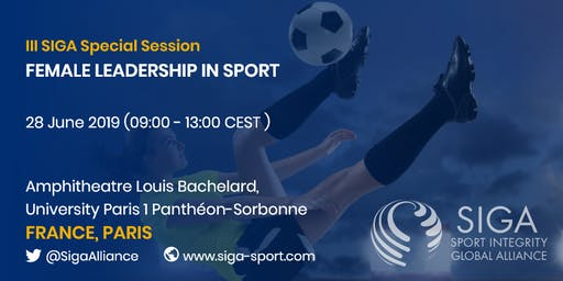III SIGA Special Session: Female Leadership in Sport, Paris