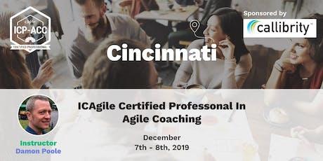 Agile Coach Workshop with ICP-ACC Certification - Cincinnati - Dec 7 tickets