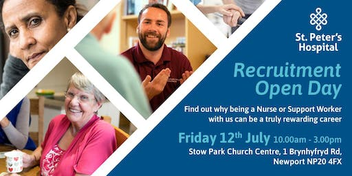 Newport Recruitment Open Day for Nurses and Support Workers