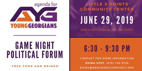 Agenda For Young Georgians Game Night tickets