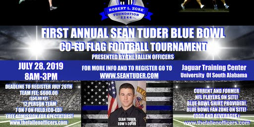 The First Annual Sean Tuder Blue Bowl Co-Ed Flag Football Tournament Presented By Mobile Chevrolet July, 28, 2019