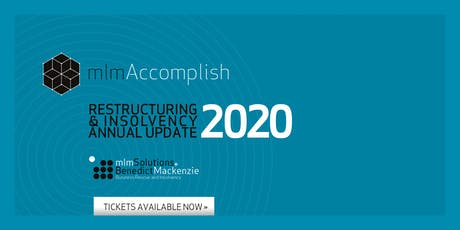 mlm Accomplish Conference, Glasgow: Restructuring and Insolvency Annual Update for 2020 tickets