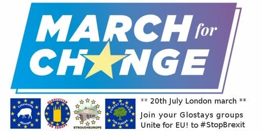 We are going to The March for Change - London 20th July 2019