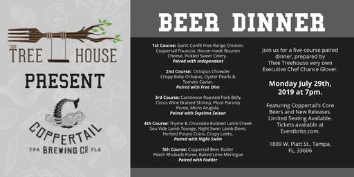 Thee Treehouse Beer Dinner Featuring Coppertail Brewing Co.