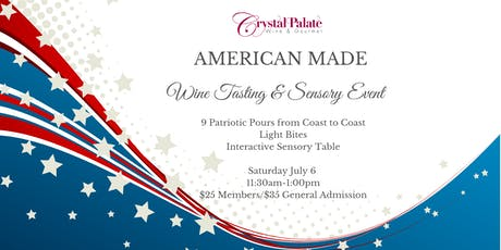 American Made Wine Tasting & Sensory Event tickets
