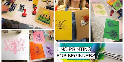 Lino Printing for Beginners Workshop - 'Drawing Life' Studio, Glasgow