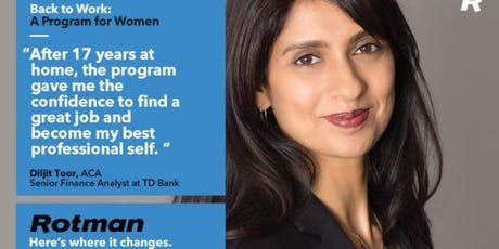 ROTMAN – WOMEN'S BACK TO WORK PROGRAM  tickets