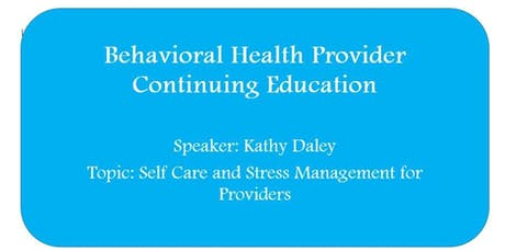 Self-Care for Providers tickets