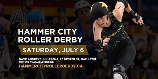 Hammer City Roller Derby July 6 Home Closer: SODA Double Header