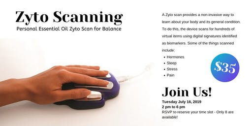 Personal Essential Oil Zyto Scan for Balance