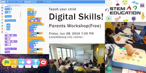 Teach your child digital skills - Free workshop for parents