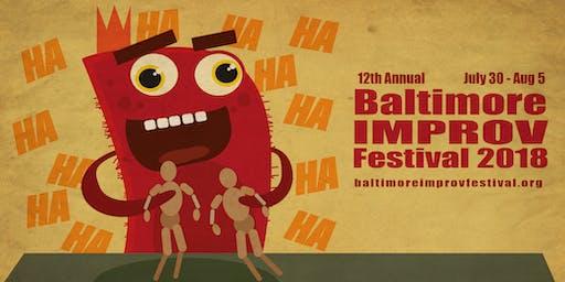 Baltimore Improv Festival Saturday Evening Pass