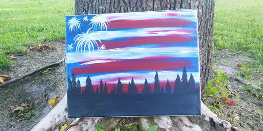 Kids Kanvas American Flag Sky