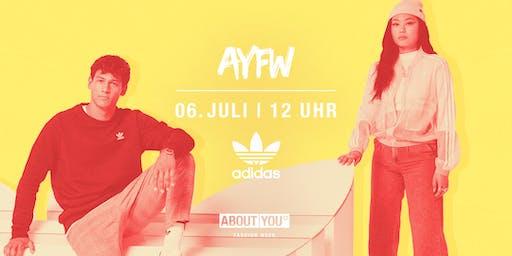 Tagesticket + adidas Fashion Show @ AYFW, Samstag, 06. Juli 2019, 12 Uhr
