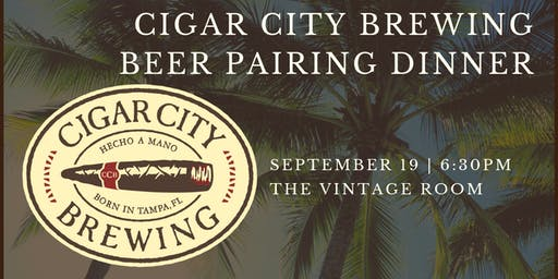 Cigar City Brewing Beer Pairing Dinner
