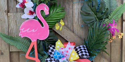 Flamingo Wreath Make & Take Soiree @ Rogers Experimental House