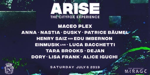 Cityfox Arise: Maceo Plex, Anna, Nastia, Dusky, Patrice Bäumel & more